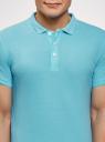 Поло из ткани пике oodji для мужчины (синий), 5B422001M/44032N/7002N