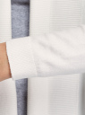 Кардиган вязаный без застежки oodji для женщины (белый), 73212398B/45641/1200N