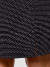Юбка прямая жаккардовая oodji #SECTION_NAME# (черный), 21601236-13/46373/3391D - вид 4
