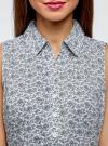 Рубашка базовая без рукавов oodji #SECTION_NAME# (синий), 11405063-4B/45510/1079E - вид 4