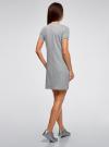 Платье трикотажное свободного силуэта oodji #SECTION_NAME# (серый), 14000162-5/46155/2075Z - вид 3