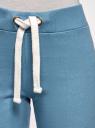 Брюки трикотажные спортивные oodji для женщины (синий), 16701010B/46980/7400N