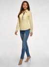 Рубашка приталенная с нагрудными карманами oodji #SECTION_NAME# (желтый), 11403222-3/42468/5000N - вид 6