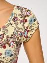 Футболка из фактурной ткани с рукавом реглан oodji для женщины (желтый), 24707002-3M/14744/5045F