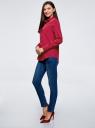 Блузка прямого силуэта с нагрудным карманом oodji для женщины (красный), 11411134B/48853/4901N