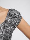 Платье хлопковое со сборками на груди oodji #SECTION_NAME# (серый), 11902047-2B/14885/1029L - вид 5