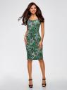 Платье-майка трикотажное oodji #SECTION_NAME# (зеленый), 14015007-3B/37809/6241U - вид 2
