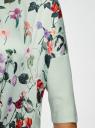 Джемпер свободного силуэта из комбинированной ткани oodji #SECTION_NAME# (зеленый), 63812601/45641/6069F - вид 5