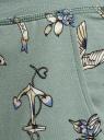 Брюки трикотажные на завязках oodji #SECTION_NAME# (зеленый), 16701042-1B/46919/6C83O - вид 5