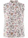 Топ базовый из струящейся ткани oodji для женщины (синий), 14911006-2B/43414/1219F