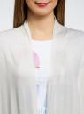 Кардиган удлиненный без застежки oodji для женщины (белый), 73212385-2/42506/1200N