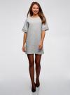 Платье прямого силуэта с карманами oodji #SECTION_NAME# (серый), 14008017-2/46895/2000M - вид 2
