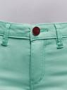 Шорты джинсовые стретч с отворотами oodji #SECTION_NAME# (бирюзовый), 12807082B/45491/7300W - вид 4