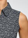 Рубашка базовая без рукавов oodji #SECTION_NAME# (синий), 11405063-4B/45510/7912E - вид 5