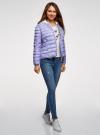 Куртка-бомбер на молнии oodji для женщины (синий), 10203061-2B/42257/7523O - вид 6