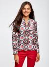 Блузка из шифона принтованная oodji #SECTION_NAME# (разноцветный), 11411056M/33109/1229G - вид 2