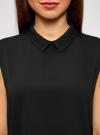 Топ базовый из струящейся ткани oodji для женщины (черный), 14911006-2B/43414/2900N - вид 4