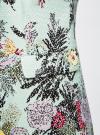 Пальто приталенное с косой застежкой oodji #SECTION_NAME# (бирюзовый), 10104044/45367/7047F - вид 5