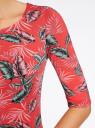 Платье трикотажное облегающее oodji #SECTION_NAME# (красный), 14001121-3B/16300/4366F - вид 5