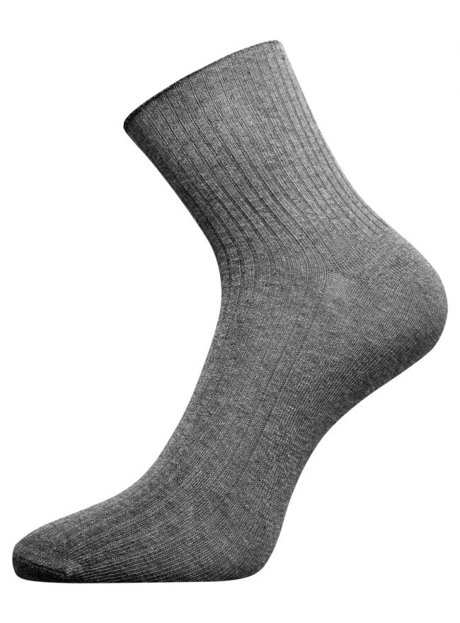 Носки вязаные в резинку oodji #SECTION_NAME# (серый), 57102467/10812/2501M