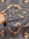 Блузка из вискозы принтованная с воротником-стойкой oodji #SECTION_NAME# (бежевый), 21411063-2/26346/3323E - вид 5