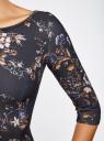 Платье из плотной ткани с принтом oodji для женщины (синий), 14001150-4/33038/7970F