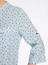 Блузка вискозная с регулировкой длины рукава oodji #SECTION_NAME# (синий), 11403225-3B/26346/7029G - вид 5