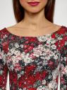 Платье короткое с вырезом на спине oodji для женщины (красный), 14001150-2/42449/2945F