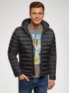 Куртка стеганая с капюшоном oodji #SECTION_NAME# (черный), 1B112009M/25278N/2900N - вид 2
