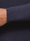 Джемпер базовый с круглым воротом oodji #SECTION_NAME# (синий), 4B112008M/25545N/7900M - вид 5