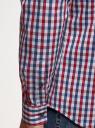 Рубашка в клетку с длинным рукавом oodji #SECTION_NAME# (разноцветный), 3B110028M/39767N/7945C - вид 5