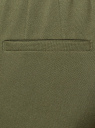 Брюки укороченные на эластичном поясе oodji #SECTION_NAME# (зеленый), 11706203-5B/14917/6800N - вид 4