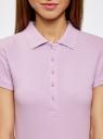 Поло базовое из ткани пике oodji для женщины (фиолетовый), 19301001-1B/46161/8000N