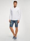 Рубашка льняная без воротника oodji #SECTION_NAME# (белый), 3B320002M/21155N/1000N - вид 6