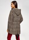 Куртка удлиненная на кулиске oodji для женщины (бежевый), 11D03006/24058/3329A - вид 3