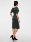 Платье с вырезом-лодочкой oodji #SECTION_NAME# (зеленый), 24008310-2/42049/2969J - вид 3