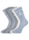 Комплект высоких носков (6 пар) oodji #SECTION_NAME# (разноцветный), 57102902T6/47469/33 - вид 2