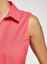 Рубашка базовая без рукавов oodji #SECTION_NAME# (розовый), 14905001B/45510/4D01N - вид 5