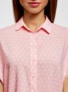 Блузка вискозная свободного силуэта oodji #SECTION_NAME# (розовый), 11405139/24681/4010D - вид 4