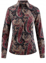 """Рубашка хлопковая с принтом """"пейсли"""" oodji #SECTION_NAME# (разноцветный), 21402212-1/45966/2966E"""