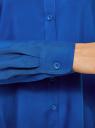 Блузка базовая из вискозы oodji #SECTION_NAME# (синий), 11411136B/26346/7501N - вид 5