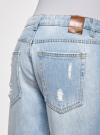 Джинсы-бойфренды с винтажными потертостями oodji для женщины (синий), 12105013/45215/7000W - вид 4