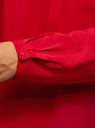 Блузка принтованная из вискозы oodji #SECTION_NAME# (красный), 11411049-1/24681/4500N - вид 5
