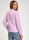 Куртка-бомбер на молнии oodji #SECTION_NAME# (фиолетовый), 10203061-1B/33445/8001N - вид 3