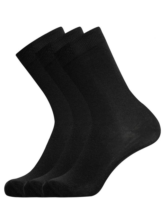 Комплект из трех пар хлопковых носков oodji для мужчины (разноцветный), 7O233000T3/47469/1904N