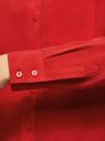 Блузка прямого силуэта с нагрудным карманом oodji #SECTION_NAME# (красный), 11411134-1B/48853/4500N - вид 5