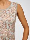 Платье трикотажное облегающего силуэта oodji #SECTION_NAME# (серый), 24005126-2/18610/2331E - вид 5