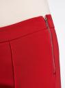 Брюки базовые зауженные oodji для женщины (красный), 11707099-1B/42250/4500N