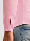 Рубашка льняная без воротника oodji #SECTION_NAME# (розовый), 3B320002M/21155N/4000N - вид 5