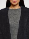 Кардиган прямого силуэта без застежки oodji для женщины (черный), 63205260/49500/2900N